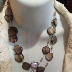 Champagne colored stone Necklace